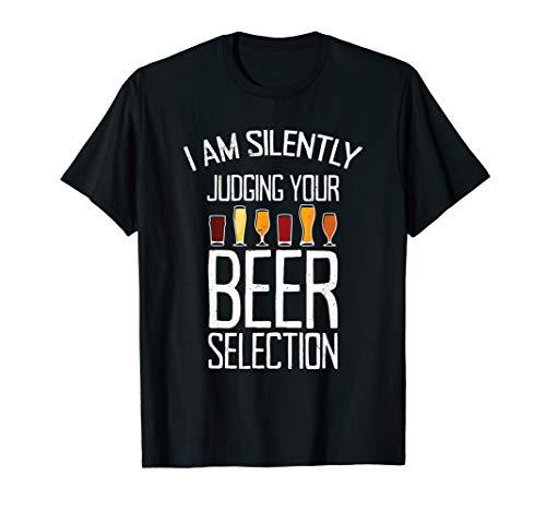 Funny Craft Beer Drinking Silently Judging Beer Snob T-Shirt