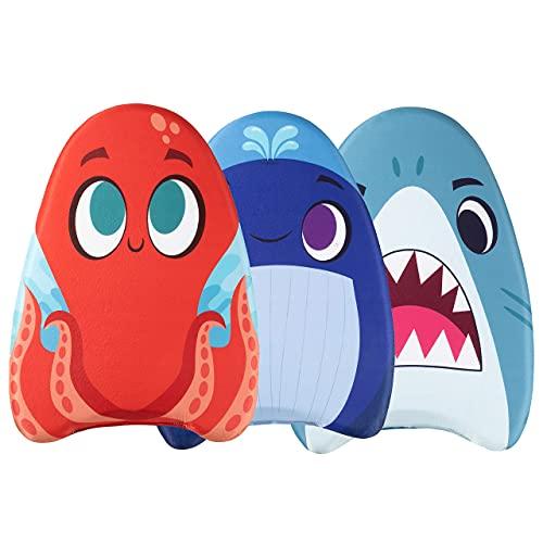 JOYIN 3 Pack Learn-to-Swim Swimming Kickboard Whale&Shark&Octopusfor Kids Children Swimming Training...