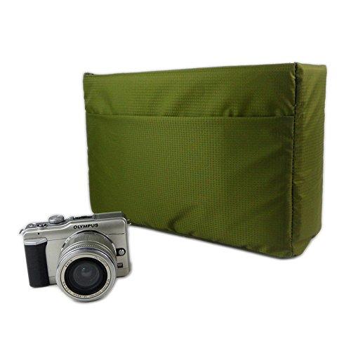 DRF Custodia Morbida Impermeabile per Fotocamera Reflex antiurto protezione Inserto #BG-221 (Verde)