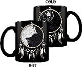 Spiral Wolf Chi -Tasse mit Thermoeffekt Tasse Mehrfarbig