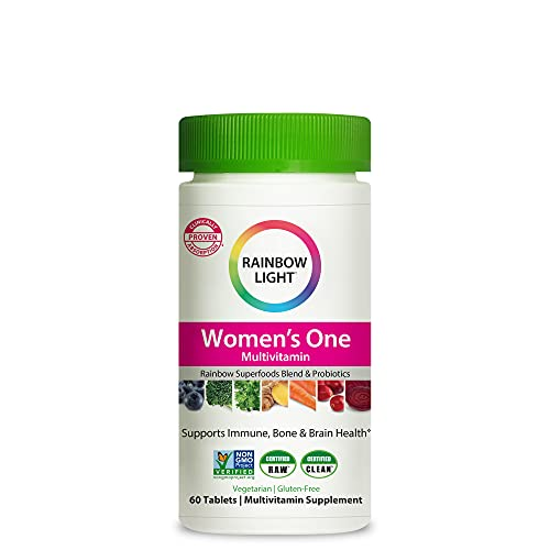 Rainbow Light Women's One Daily High Potency Multivitamin for Immune Support with Vitamin C, D & Zinc, 60 Tablets, Non-GMO, Vegetarian & Gluten Free