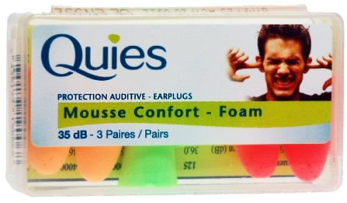 Quies 3 Paires de Protection Auditive en Mousse - Couleur: Couleurs assorties