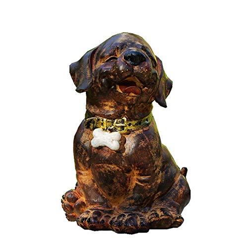 FYHH-JZHY Mini Escultura, Decoración Decoración Escultura Zen Estatua Jardín Perro Estatua, Simulación Perro Escultura Vintage Shabby Animal Jardín Césped Arte Creativo Adornos Artesanías
