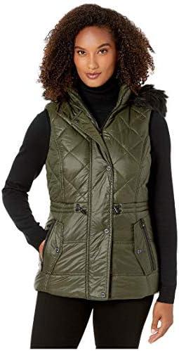 Michael Michael Kors Active Vest with Faux Fur Trim Hood A421030TZ Olive SM product image