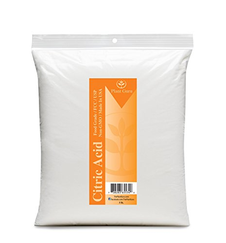 Citric Acid 5 lbs. 100% Pure Food Grade, Kosher, Non-GMO, for Cooking, Baking, Cleaning, Bath Bomb and Soap Making.