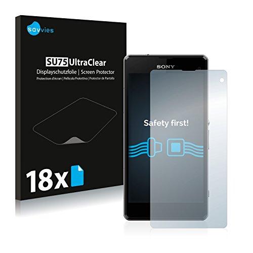 savvies 18-Pezzi Pellicola Protettiva Compatibile con Sony Xperia Z1 Compact / Z1 Mini Protezione Schermo Trasparente