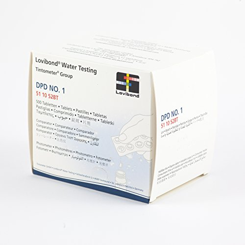 500pastillas DPD1para fotómetro, Scuba II o PoolScan de mediPOOL, 50tiras de 10pastillas