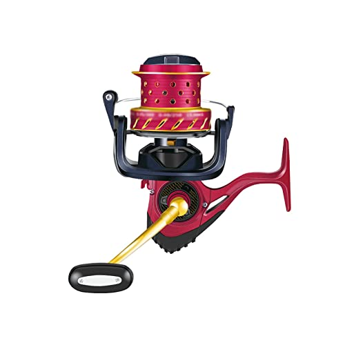 Carp Bait Runner Carretes Carrete de pesca Spinning Metal Agua salada Carp Fishing 6 + 1Bb Bobina de carrete Alimentador de peces Carrete giratorio Carrete Carretes giratorios ultraligeros(Size:10000)