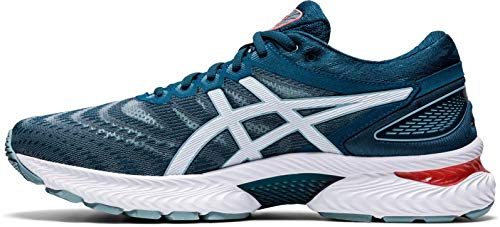 ASICS Mens Gel-Nimbus 22 Running Shoe, Light Steel/Magnetic Blue,43.5 EU