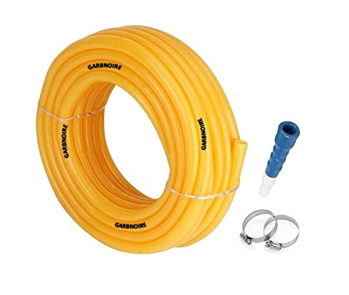 GARBNOIRE Flexible 0.5 inch & 15 Mt Long Garden Water Pipe/PVC Pipe/Car and Bike wash Pipe with Hose Connector