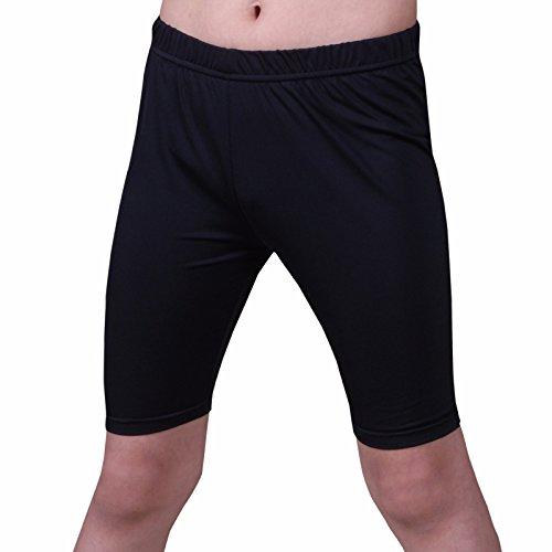 Henri maurice Kids Compression Shorts Underwear Youth Boys Spandex Base Layer Bottom Pants FK Black L