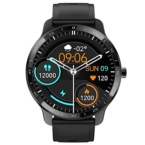 Smartwatch Orologio da uomo, Smartwatch Fitness tracker da donna, per telefoni Android Schermo a colori full touch da 1,28 pollici ,schermo rotondo con cardiofrequenzimetro IP67 fitness tracker.