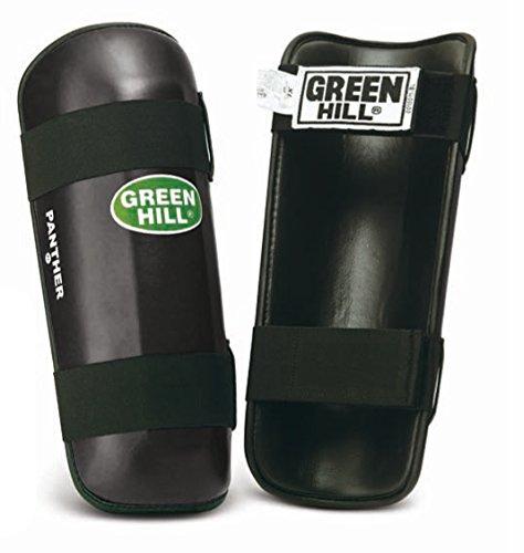 GREEN HILL Offerta Fine Serie Paratibia Kick Boxing para Tibia Paratibie Nero Muay Thai (XL)
