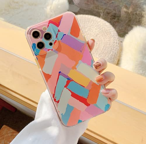 ZTOFERA Compatible with iPhone 11 Case, 6.1 inch, Cute GraffitiGeometryClearProtective BumperCase Silicone TPU Shockproof Slim Soft Phone Cover for iPhone 11, Chalks Graffiti