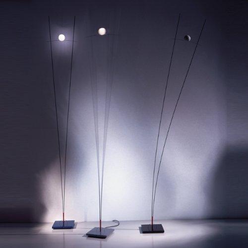 Ilios staande lamp, zwart roestvrij staal met schuifdimmer