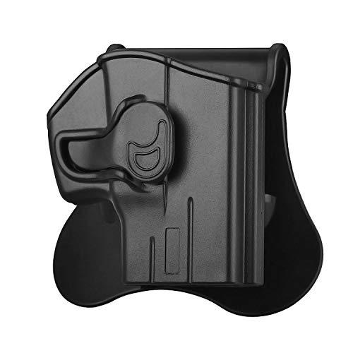 Taurus PT111 G2c Holster, OWB Paddle Holsters Fit Taurus Millennium PT111/G2/G2C/G3/PT132/PT138/PT140/PT745, Polymer Outside Waistband Tactical Pistol Holster, Adjustable Cant, Trigger Release - RH