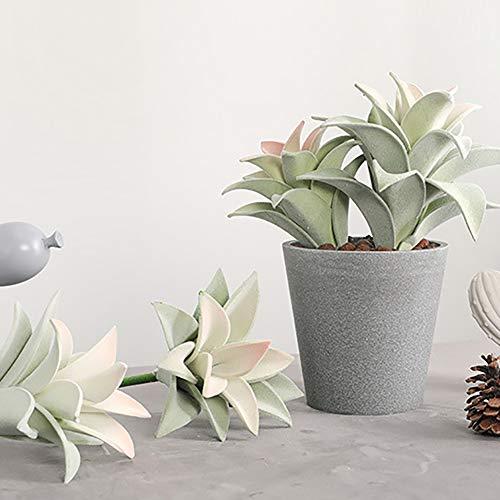 ENticerowts Flor Artificial, Mini Planta Suculenta Artificial Bonsai Hoja De Piña Falsa Balcón Escritorio Hotel Decoración De Oficina Verde Grande
