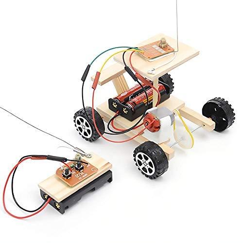Modelo de ensamblaje de automóviles, ensamblado de RC Juguete para automóvil eléctrico Control remoto Vehículo Conjunto de juego de experimentos educativos hechos a mano para niños