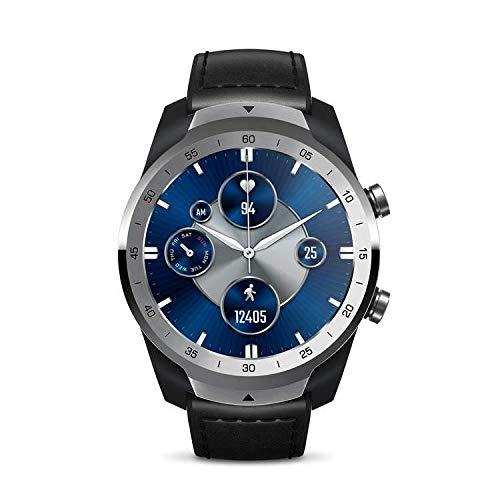 TicWatch Pro S Smartwatch con memoria RAM da 1 GB GPS integrato IP68 Impermeabile Monitoraggio della frequenza cardiaca 24 ore su 24 Monitoraggio del sonno Wear OS by Google smartwatch (Argento).
