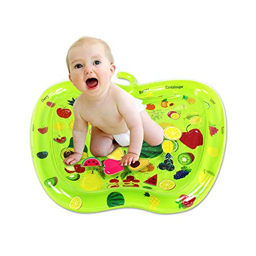 HBIAO Inflatable Baby Water Mat Tummy Time Mat Inflatable Tummy Time Infant Toy Play Mat for Toddlers Perfect Fun Time Play Activity Center Gifts