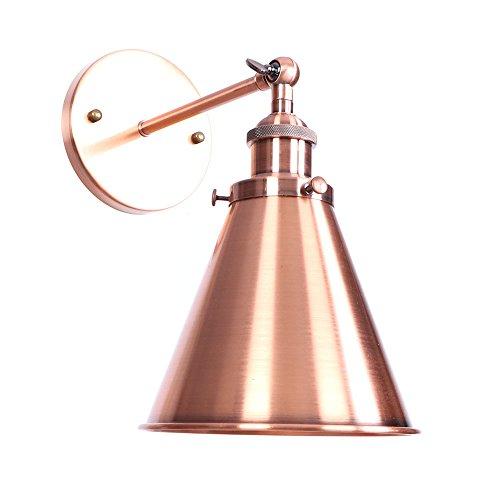 Wandlampe retro Retro-Stil Wandlampe retro verstellbare Wandlampe Edison Aluminium Lampenfassung E27 Trichter Lampenschirm