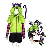 KANGLE-DERI Chinen Miya SK8 Anime Miya Cosplay Cosplay T-Shirt + Jacket + Shorts + Socks + Guantes + Cola Conjunto Completo, Niñas Chicas Halloween Carnaval Game Party Fancy Dress Uniforme