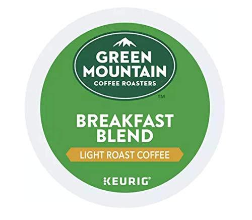 Green Mountain Coffee Roasters Breakfast Blend Light Roast Coffee Single-Serve Pods, 100 Count