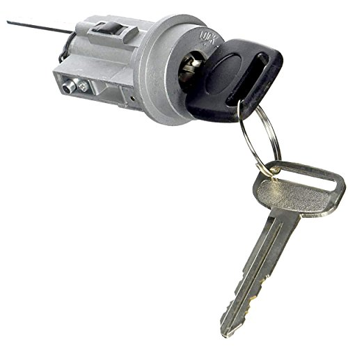 Door Lock Cylinder compatible with TACOMA 95-04 Left Chrome w//2 Keys Door-Mounted