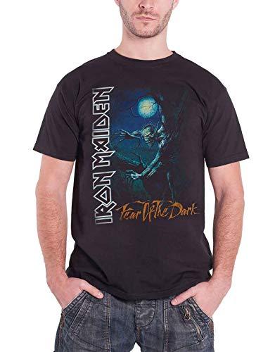 Iron Maiden T Shirt Fear Of The Dark Tree Sprite band logo Uomo nero
