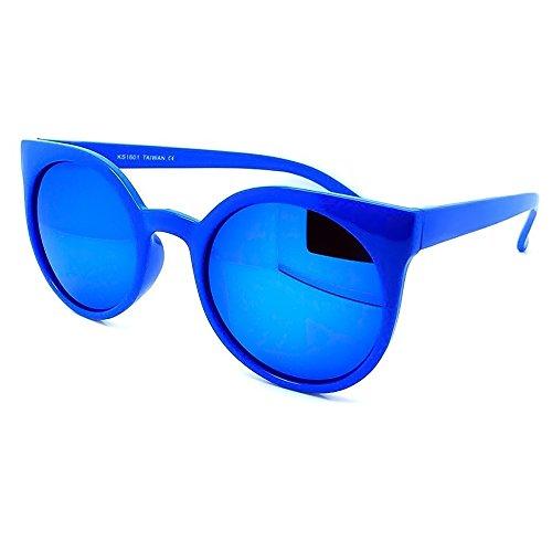 KISS Gafas de sol Reflejado mod. GROUND estilo Rihanna - fashion redondo MUJER rockabilly vintage - AZUL/Azul