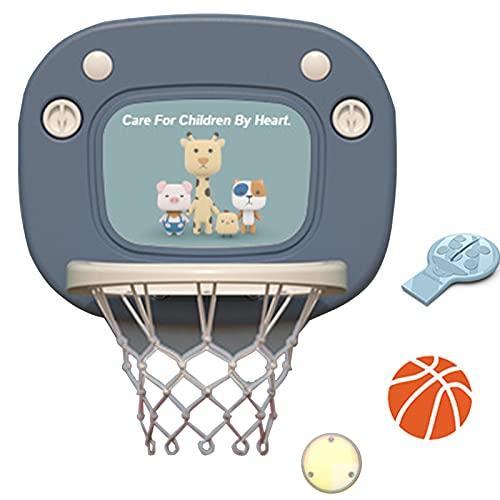 TXYJ Aro de Baloncesto para Niños Interior, Mini Aro de Baloncesto para Puerta, Tablero Montado en La Pared, Juguetes para Niños, Accesorios de Habitación para Regalos, Dormitorio,Azul