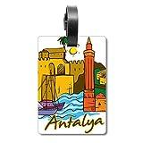 Etiqueta de identificación para Maleta de Acuarela de Turquía Antalya Burdur