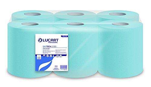 Lucart Professional 852291 Skytech 2.150 Handtuchrolle Innenabrollung, 2-lagig, 150 m (6-er Pack)