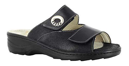 Fidelio Damen-Pantolette Hallux H1/2, 236011-90 schwarz (39, schwarz)