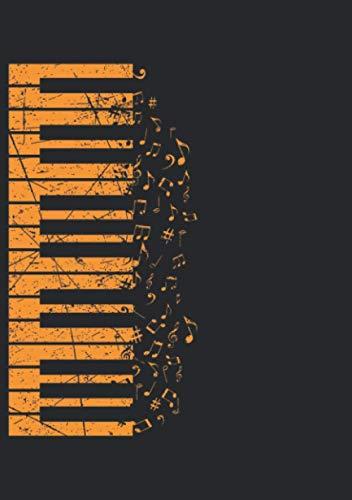 Notizbuch A5 dotted, gepunktet, punktiert mit Softcover Design: Keyboard Klavier Musiker Pianisten Musik Klavierunterricht: 120 dotted (Punktgitter) DIN A5 Seiten