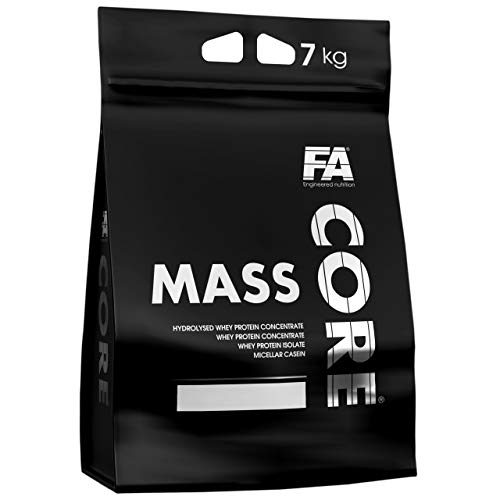 Fitness Authority MassCore Package of 1 x 7000g – Gainer – Protein Powder – Mass - Whey with Carb – Muscle – Pre Workout – FA Core Mass Gain – Energy – Weights (Chocolate)