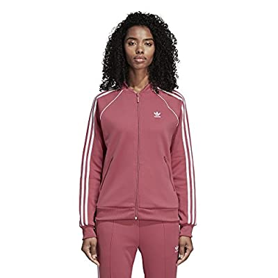 adidas Originals Women's Superstar Tracktop, Trace Maroon, L