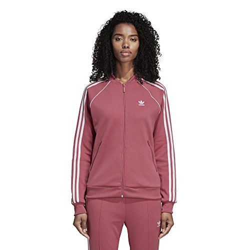 adidas Originals Super Star Trainingsjacke für Damen - Rot - X-Klein