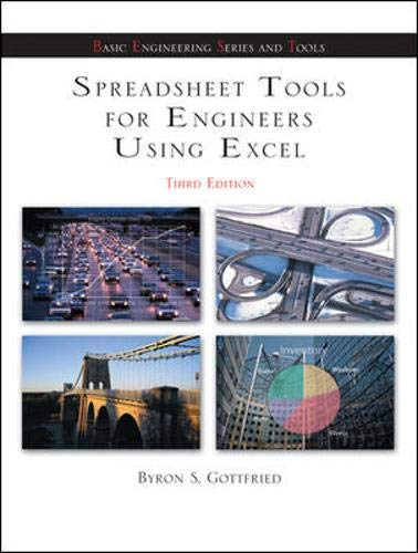 Spreadsheet Tools for Engineers using Excel (Mcgraw-hill's Best--basic Engineering Series and Tools)