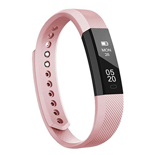 RobotsDeal ID115 Fitness Armband, Smart Armband Bluetooth Anruf Reminder Remote Activity Tracker für Android iOS Telefon