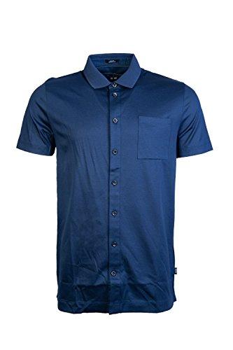 Hugo Boss Herren Hemd Jersey Oberhemd Blau M