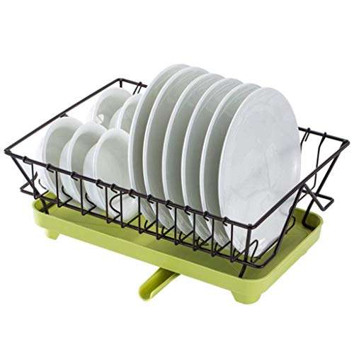 SHYPT Dish Drying Rack, Dish Racks with Drain Board Utensil Holder Stainless Steel Generic Plate Dishes Drainer for Kitchen Counter over Sink Sturdy DrainBoard