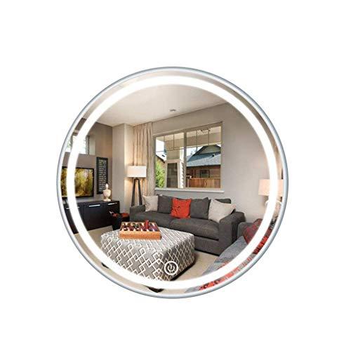 ShiSyan Llevado espejo de maquillaje espejo de maquillaje espejo del maquillaje de carbono Hierro aleación de escritorio de doble cara de aumento 3X retro inoxidable HD del espejo cosmético R01 Espejo