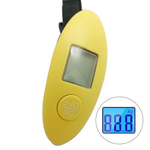LYABANG Digital Hängende Gepäck Waage Tragbare Koffer Waage Mit Übergewicht Alarm Koffer Reise Waagen Tragbare Waage,Yellow