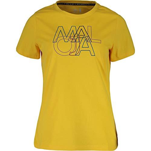 Maloja Damen Duriettam. T-Shirt, Gelb (Sunlight 8204), X-Small