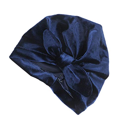 shunbang yuan La niña de Terciopelo Turbante Sombrero Infantil del niño Envoltura del Arco de la Venda del oído del Conejito Headwraps Anudada Wrap Tocado