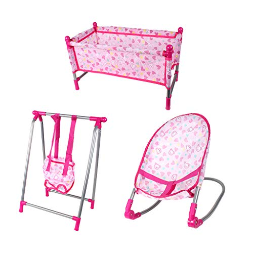 Sharplace Doll Baby Toddler Infant Swing Toddler Chair Bed Playset Kids Simulation Toy