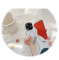 レトロシンプルな抽象線アート絵画電話ケースiphone 11プロXSマックスXR Xケースシリコンカバーiphone 7 6 8プラスケース、iphone 8プラス、01