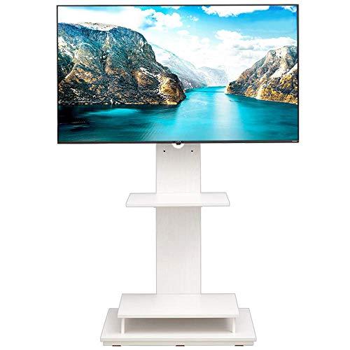 【43-65型推奨】 アイリスオーヤマ テレビスタンド 液晶TVスタンド 耐震設計(震度7) 棚板2枚 39段階調節 ホワイト 幅75×奥行39.1×高さ139.5�p UTS-W75
