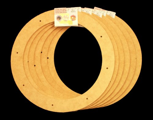 "6 Pack, 12"" Biodegradable Floral Craft Ring, Ez Glueable Wreath Form, for Photo Frame, Candle Ring, Etc"